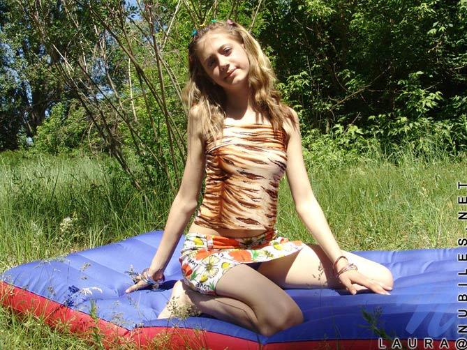 Laurita y su colchoneta